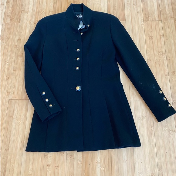 CHANEL Jackets & Blazers - CHANEL Vintage Black Custom Jacket 93A